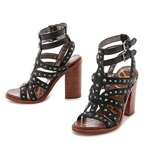 Sam Edelman Keith studded stacked heel sandals